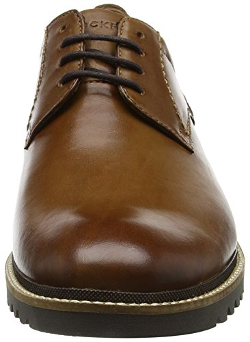 Rockport cognac Oxford Homme Marshall Marron Plaintoe Leather rAXrxf