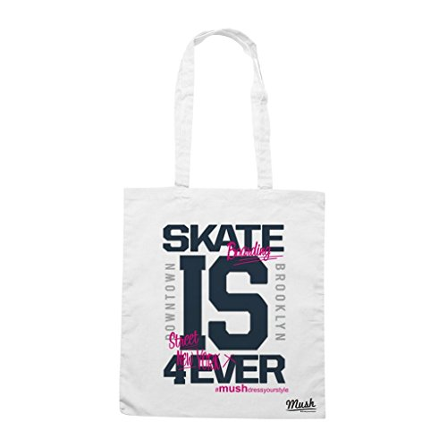 Borsa Skate Boarding Is Forever - Bianca - Famosi by Mush Dress Your Style