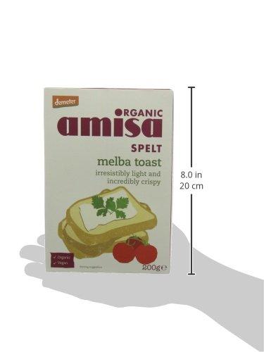 Amazon.com: Amisa Organic Spelt Melba Toasts 200 g (Pack of 6): Computers & Accessories