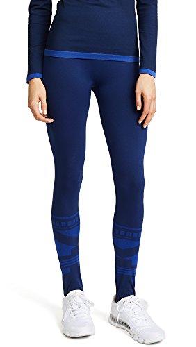 Tory Sport Women's Seamless Ski Leggings, Tory Navy Fairisle, X-Small by Tory Sport