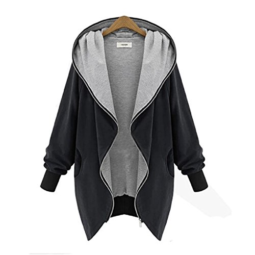 Spring Breakers Costume (Jacket,Beautyvan New Womens Zipper Hoodie Kapuzen Jacket Parka Trench Windbreaker (L2, Black))