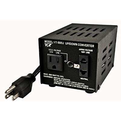 VCT VT-500J - Japanese Step Up/Down Voltage Transformer Converts Japan 100 Volts To 110V OR Vice Versa - 500 Watt: Home Improvement