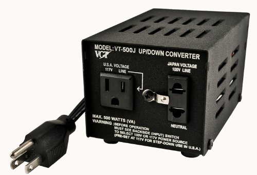 VCT VT-500J - Japanese Step Up/Down Voltage Transformer Converts Japan 100 Volts To 110V OR Vice Versa - 500 Watt ()