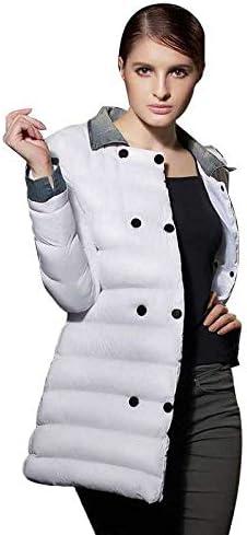 LXBRCC Otoño/Invierno 2020 Nueva Solapa Larga Mujer Mujer Abrigo de algodón Brillante Diario Commuter Chaqueta Cruzada: Amazon.es: Deportes y aire libre