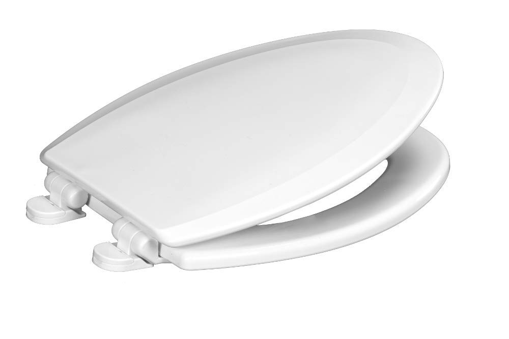 Centoco 900SC-001 Elongated Wooden Toilet Seat Featuring Safety Close, Heavy Duty Molded Wood with Centocore Technology, White by CENTOCORE