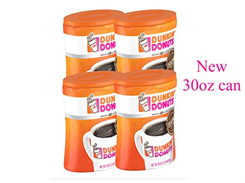 4-Pack Dunkin' Donuts Original Blend Ground Coffee, Medium Roast, 30-Ounce Canisters (30 Ounce Canister)