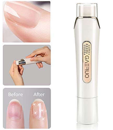 Premium Electric Manicure Pedicure Tool, Rechargeable Nail Buffer and Polisher, Easily File and Shine Fingernails, Toenails for Naturally Beautiful Looking Nails (Standard Package)
