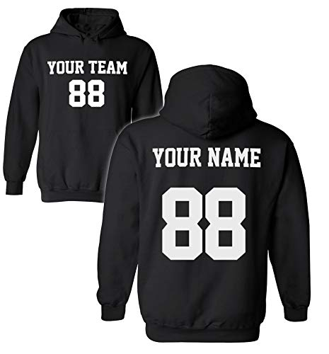 Desing Your OWN Hoodie for Men amp Women  Custom Jersey Hoodies  Pullover Team Sweatshirts Black