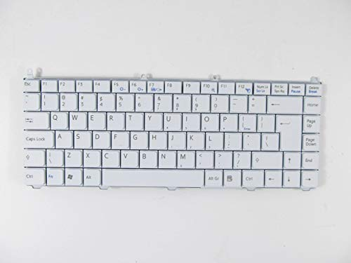 (KinFor Brand Keyboard for Sony Vaio VGN-FE VGN-AR Series VGN-FE855E/H White US Laptop Keyboard + Clear Protector Cover)