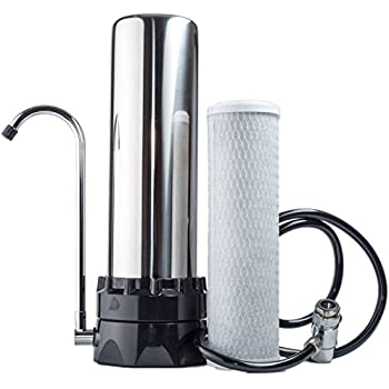 The Stainless Steel Countertop Water Purifier Filter (10 Micron Carbon Block)
