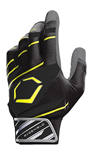 EvoShield Protective Speed Stripe Batting Gloves, Black/Yellow, X-Large