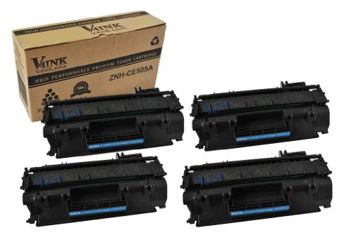 4 Pack V4INK ® New Compatible HP CE505A 05A Toner Cartridge-Black (HP 05A), Office Central