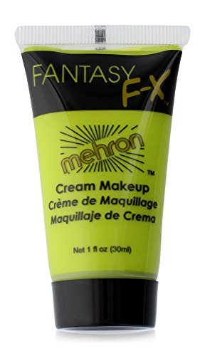 [Mehron Makeup Fantasy F/X Water Based Face & Body Paint, OGRE GREEN– 1oz Carded] (Quick Costume Ideas For Men)