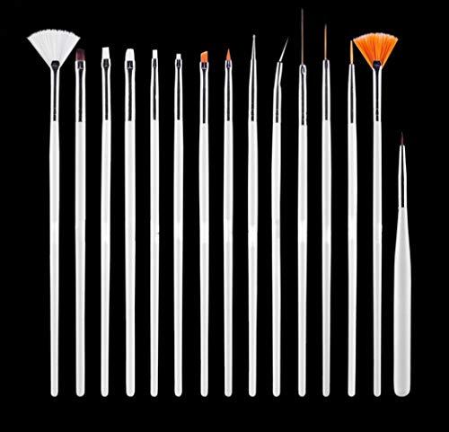 JOYJULY Nail Art Kit contains 30 Striping tape & 4Pcs Striping Roller Box & 12 Colors Rhinestones & 5pcs Dotting Pen & 15pcs Brush Set 6