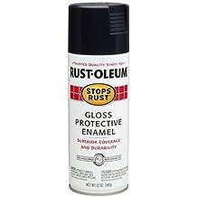 Rust-Oleum 7779830 Stops Rust Spray Paint, 12-Ounce, Gloss Black