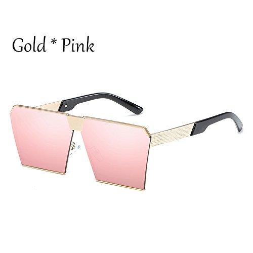 C2 Pink Silver Enormes Unas De Gafas Uv356 Mujer Damas G 17 Cuadradas Hombre Tonos Estilos De Silver Gold Gafas Sol TIANLIANG04 Vintage Sol C11 RgqUwWRn