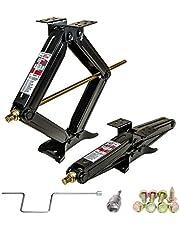 "PEAKTOW J0602 5000 lb. 24"" RV Stabilizer Scissor Jack W/Handle Socket Screws 2PK"