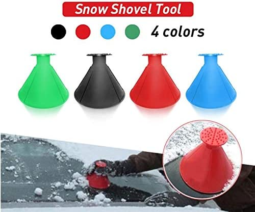 Red Magic Shovel Cone Shaped Outdoor Winter Car Tool Snow Windshield Funnel Ice Scraper Round Shape Car Windshield Snow Removers Magic Ice Scraper