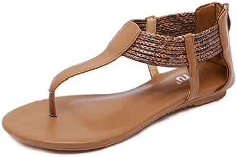 TIMEMEANS Summer Pointed Sandals Womens Retro Buckle Roman Hollow Shoes Leisure Sports & Game Room Shoe Covers
