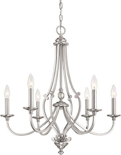 Minka Lavery Chandelier Lighting 3336-84 Savannah Row, 6-Light 360 Watts, Brushed ()