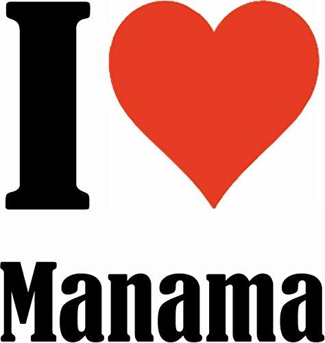 """Handyhülle iPhone 4 / 4S """"I Love Manama"""" Hardcase Schutzhülle Handycover Smart Cover für Apple iPhone … in Weiß … Schlank und schön, das ist unser HardCase. Das Case wird mit einem Klick auf deinem Sm"""