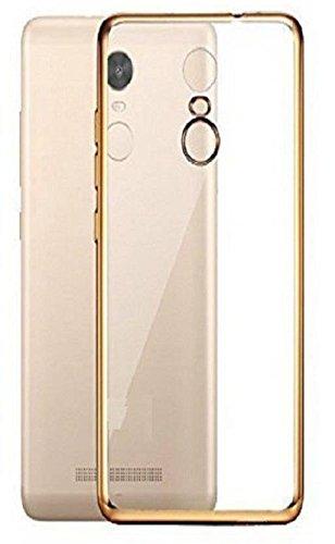 the latest d5f5e 1391b Lenovo Vibe K5 Note Transparent Gold Border Back Cover: Amazon.in ...