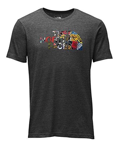 The North Face HD Tri-Blend SS Tee - Men's TNF Dark Grey Heather/TNF Black Sticker Bomb Print Medium (Bombs Print T-shirt)