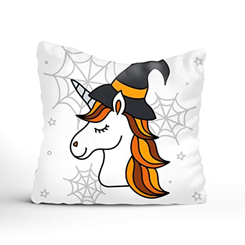 (Creative Pillow Covers Cute Halloween Unicorn Decorative 1818