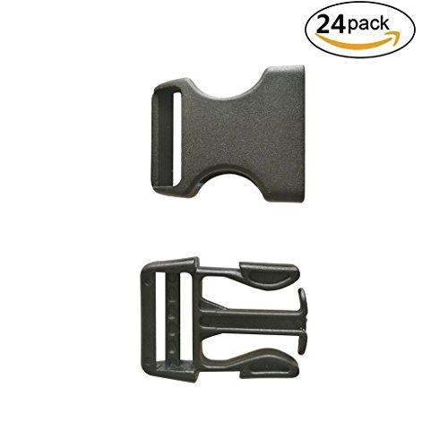 24-Pcs-1-25mm-Dual-Adjustable-Plastic-Buckle-Black