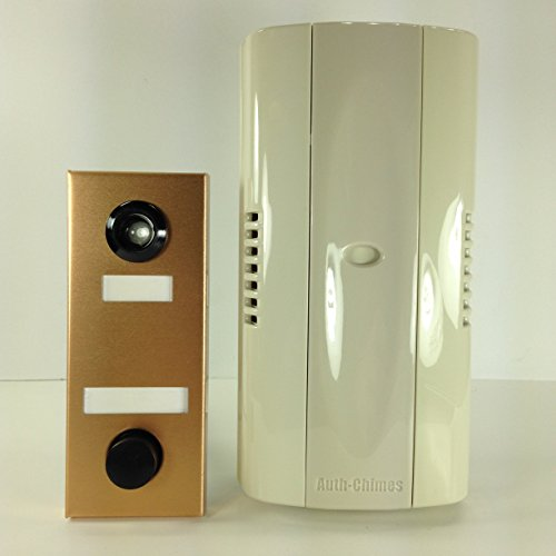 Auth Florence, Non Electric, Mechanical Door Chime, Doorbell and Viewer #686 (Bronze)