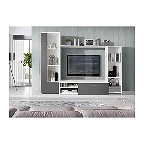 finlandek - Mueble TV Pared Pilvi 220 cm, Color Blanco y ...