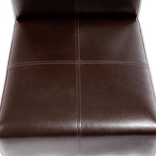 Christopher Knight Home T-stitch Chocolate Brown Leather Dining Chairs Set of 2