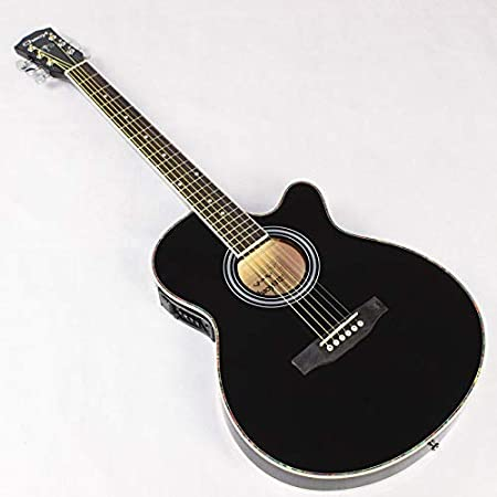 SUNXK Guitarra Folk Guitarra acústica de la Caja eléctrica de barriles Ultra-Delgado 40 Pulgadas Son Guitarra Negro jita Guitarra EQ (Color : Black, Size : 40 Inches): Amazon.es: Hogar