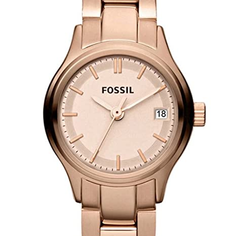 Amazon.com: Fossil Archival Mini Rose Gold-tone Stainless Steel Ladies Watch ES3167: Fossil: Watches