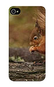 Exultantor Case Cover Protector Specially Made For Iphone 5/5s Animal Squirrel Log Kimberly Kurzendoerfer