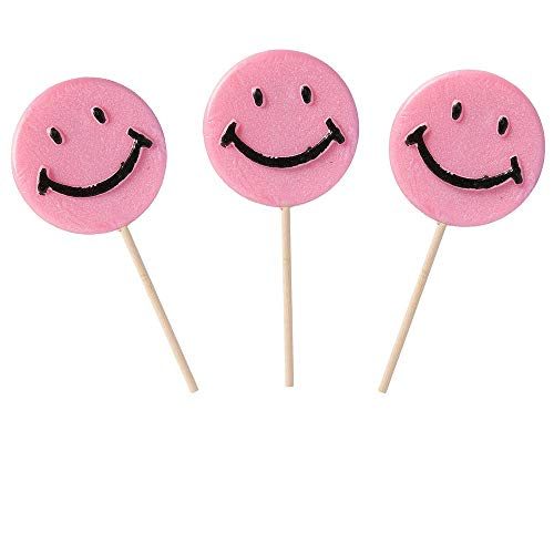 (Happy Smiley Face Pink Lollipops, 1.5 oz - 36 count box)