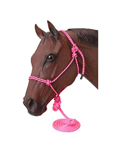 Tough 1 Poly Rope Tied Halter with Lead, Pink