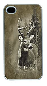 IPhone 4S Cases Lone Buck Deer Polycarbonate Hard Case Back For Case Samsung Note 4 Cover White