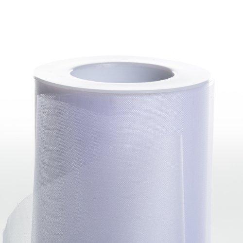 Koyal Wholesale 25-Yard Sheer Organza Fabric Roll, 6-Inch, White -