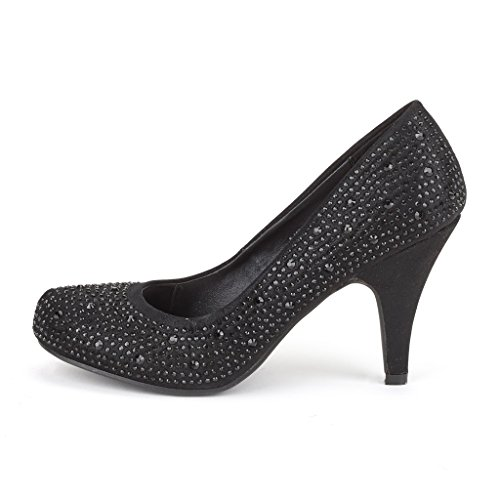 ALLBLACK Pumps ARPEL ARPEL Dance Heel Women's DREAM BERRY Shoes Evening New Classic S Rhinestones PAIRS Formal Low PwBBa