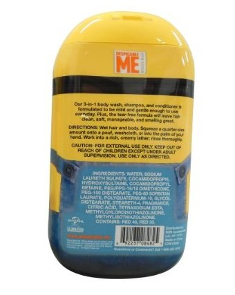 Despicable Me Minions 3 in 1 Body Wash Banana & Strawberry (PACK OF 2)