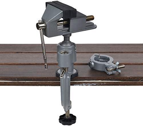 2 で 1 テーブル万力クランプ 360 クランプテーブルグラインダーホルダードリルロータリーツールクラフトモデルツール金属加工ツール-Holder and Vise