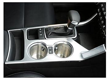 - Chapa protectora para interior de coche, cubierta plateada para la palanca de cambios, aesorio de tuning: Amazon.es: Coche y moto
