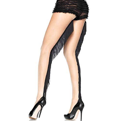 Leg Avenue Womens Sheer Pantyhose with Fringe Backseam ()