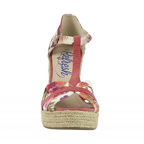 Zapatos de cuña de Mujer REFRESH 61805 TEXF CORAL