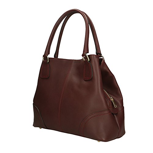 da vera in donna Italy cm pelle Bordeaux In Borsa Aren 35x29x13 Made Uq6wOx