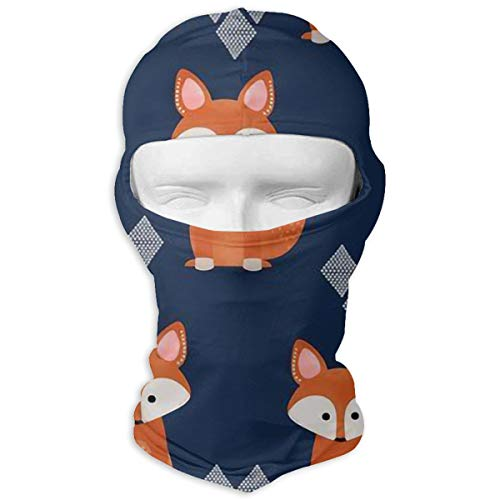 Windproof Balaclava Hood, Fox Cover Face Mask for Hunting Skiing White -