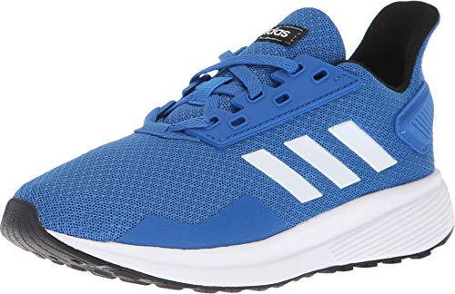 adidas Unisex-Kid's Duramo 9 Running Shoe, Blue/White/Black, 1