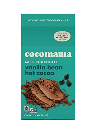 Cocomama Milk Chocolate Vanilla Bean Hot Cocoa Mix - Milk Chocolate Chips, Organic Fair Trade Cocoa Powder, Madagascar Vanilla Bean, Non-GMO, Kosher, 7.5 oz