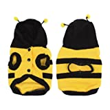 Water & Wood Winter Bee Style Cap Apparel Clothing Pet Cat Dog Hoodie Coat Yellow Size 8